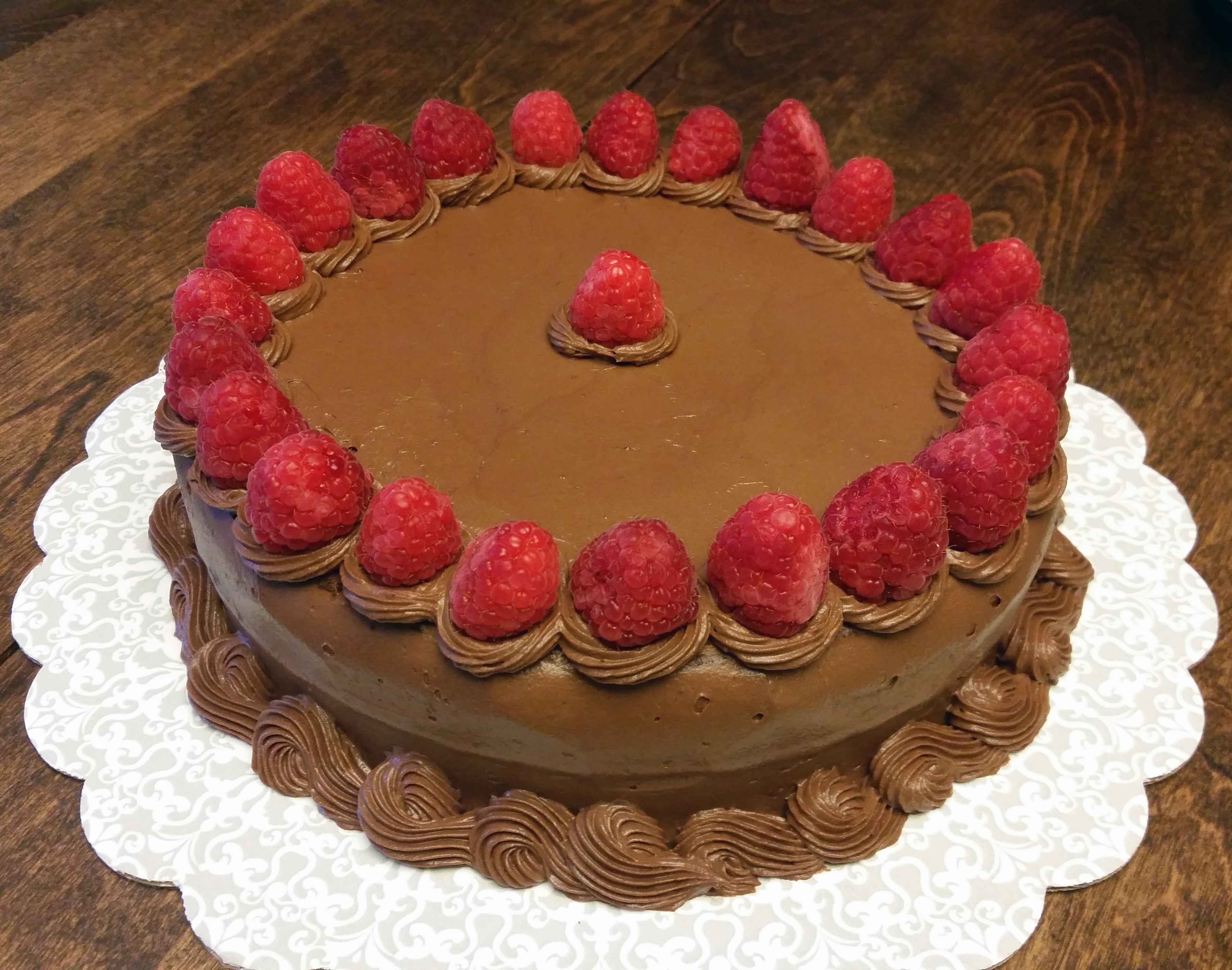 Chocolate Cake With Raspberry Curd Filling